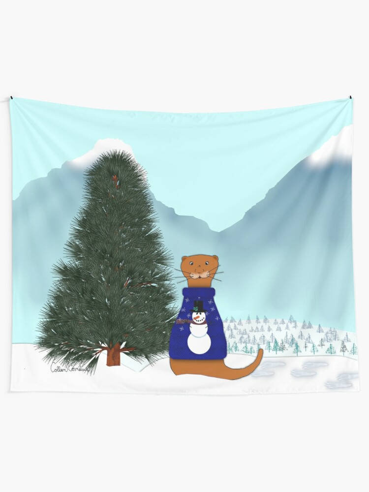 Alternate view of Oliver Finds His Christmas Tree Tapestry