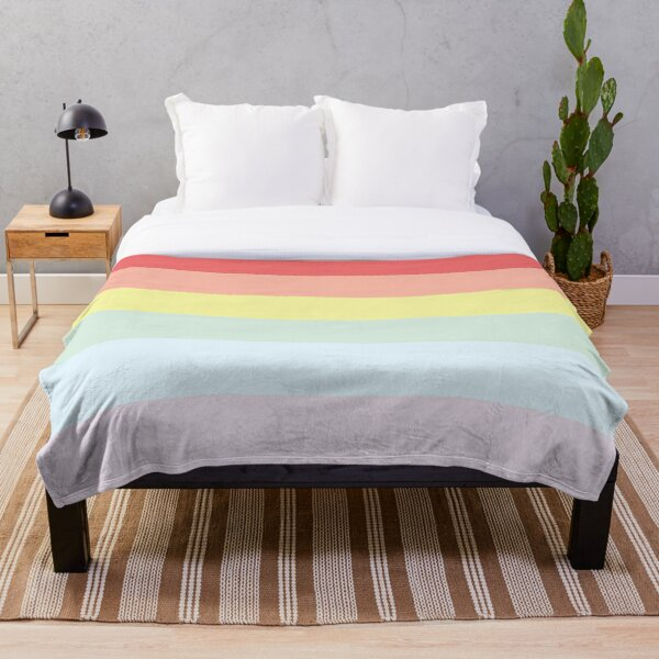 Pastel Rainbow (LGBT+) Pride Flag Throw Blanket