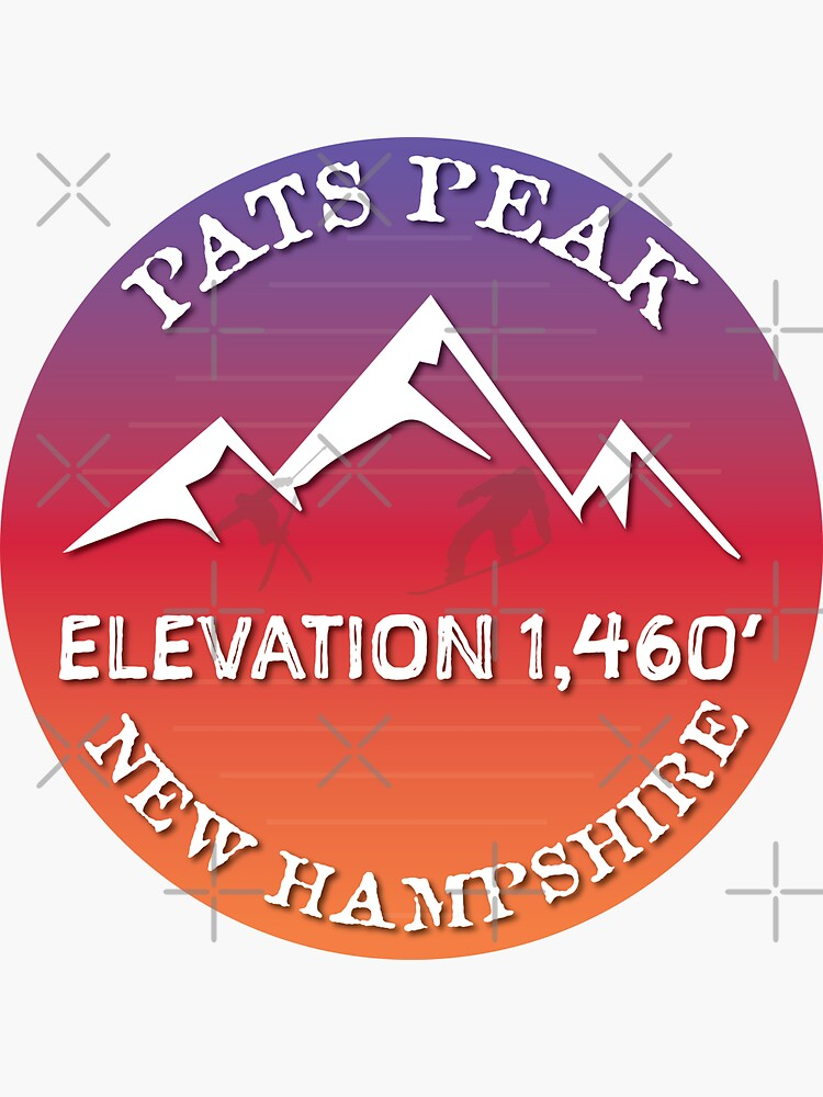 Pat's Peak New Hampshire Ski Snowboard Skiing Loon Mountain  Hiking Gift Ideas by letourneau41