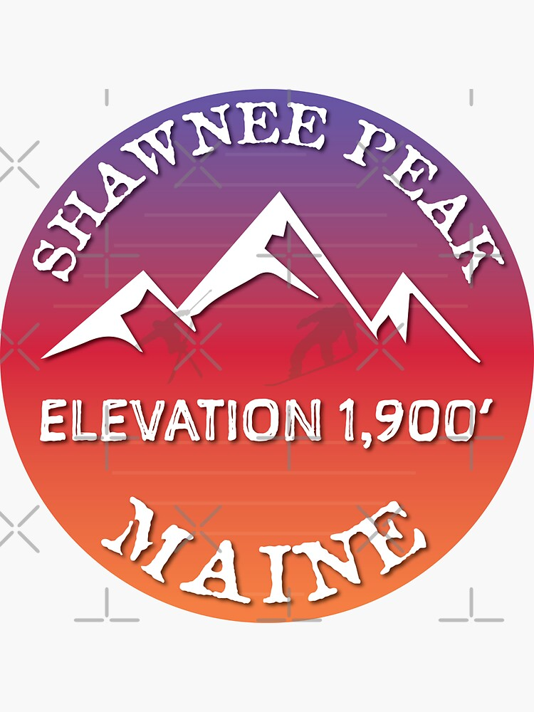 Shawnee Peak Mountain Maine Ski Snowboard Skiing Sugarloaf Hiking Gift Ideas by letourneau41