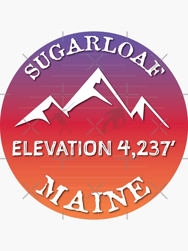 Sugarloaf Mountain Maine Ski Snowboard Skiing Sugarloaf Hiking Gift Ideas by letourneau41