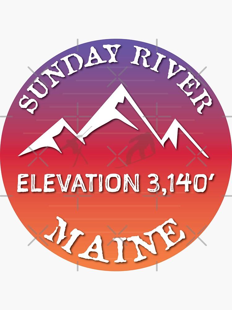 Sunday River Mountain Maine Ski Snowboard Skiing Sugarloaf Hiking Gift Ideas by letourneau41