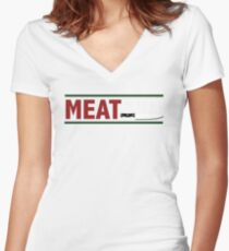 Meat Cute Women's Fitted V-Neck T-Shirt