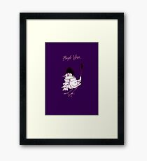 Purple Wren Framed Print