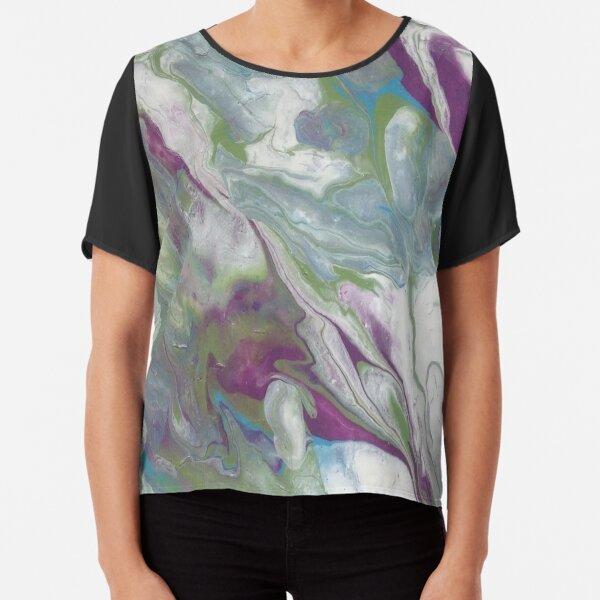 Purple Marble Chiffon Top