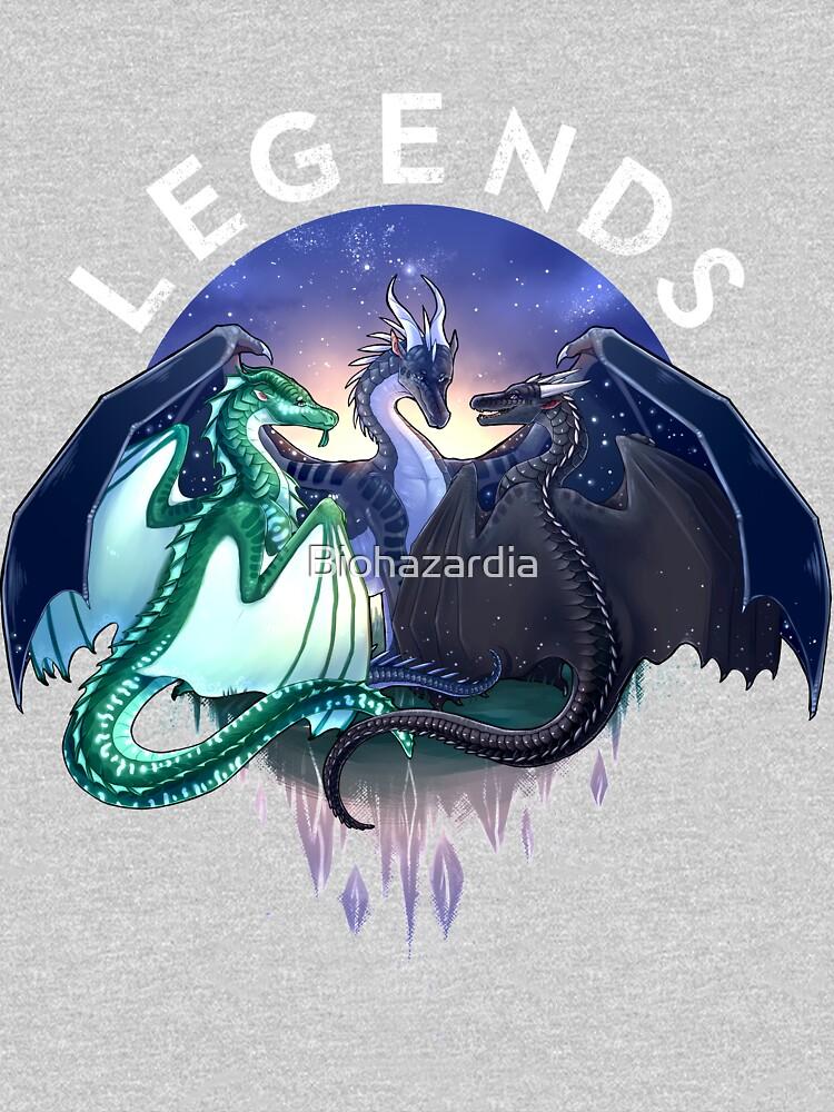 Wings of Fire - Legends - Fathom, Darkstalker, Clearsight by Biohazardia
