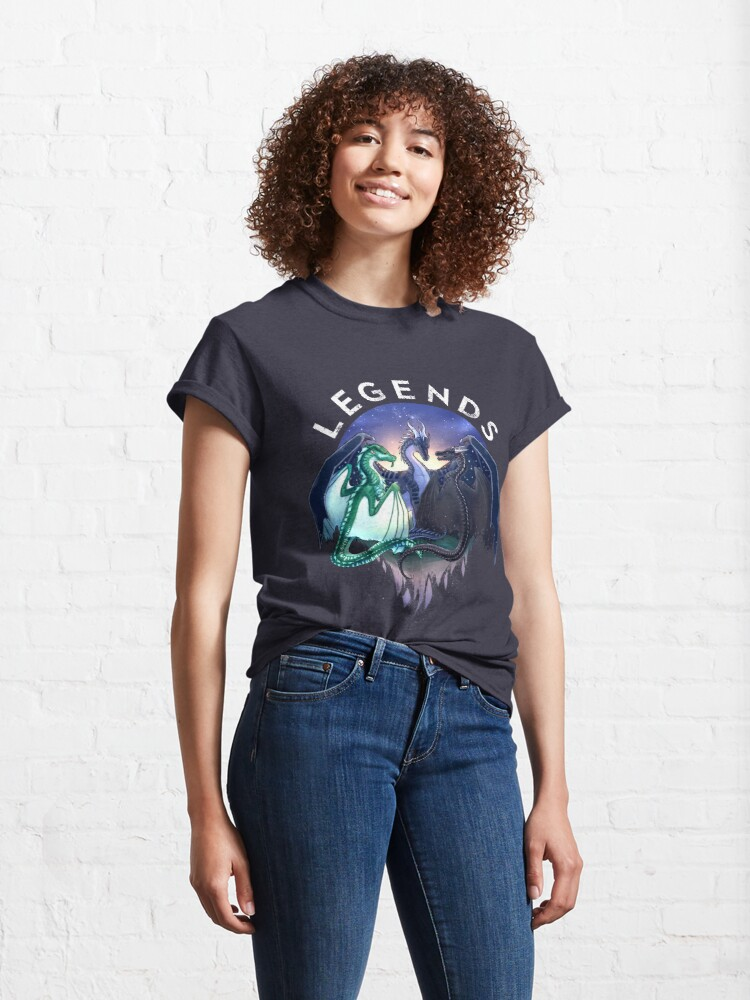 Alternate view of Wings of Fire - Legends - Fathom, Darkstalker, Clearsight Classic T-Shirt
