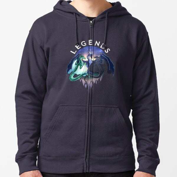 Wings of Fire - Legends - Fathom, Darkstalker, Clearsight Zipped Hoodie