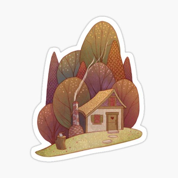 Hansel and Gretel Cottage Sticker