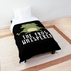 The Frog Whisperer Cute Funny Toad Comforter