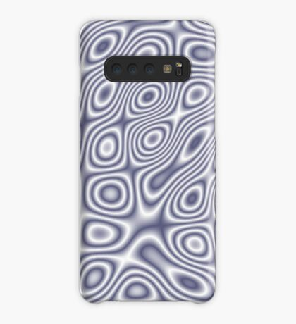 Grey Dark Blue Cosmic Liquid Pattern Case/Skin for Samsung Galaxy