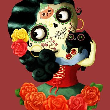 Cute Mexican Day of The Dead Girl by colonelle
