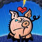 Broken Hearted Pig by Zoo-co