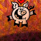 Pig Falling Head over Heels in Love by Zoo-co