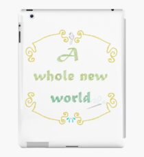 A Whole New World Needlepoint iPad Case/Skin