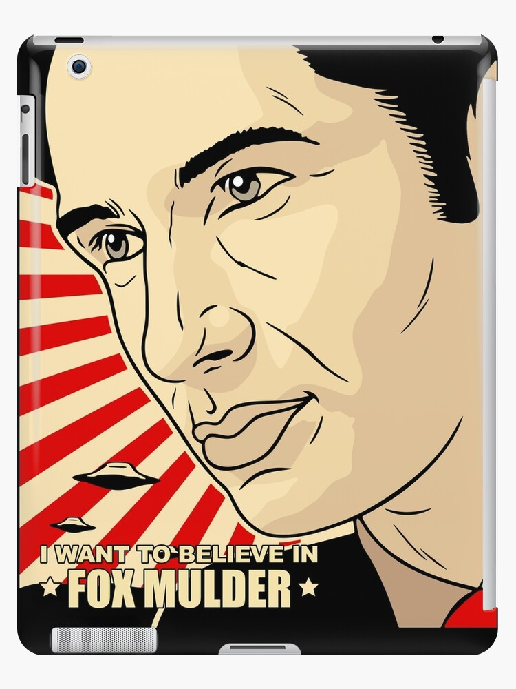 'FOX MULDER BELIEVE' iPad Case/Skin by TheRents