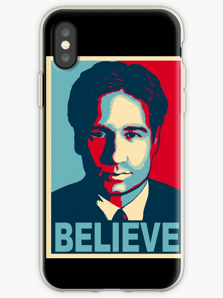'FOX MULDER BELIEVE' iPhone Case by TheRents