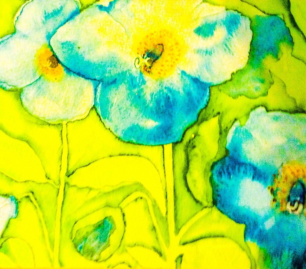 Blue Poppies by Valgibbons
