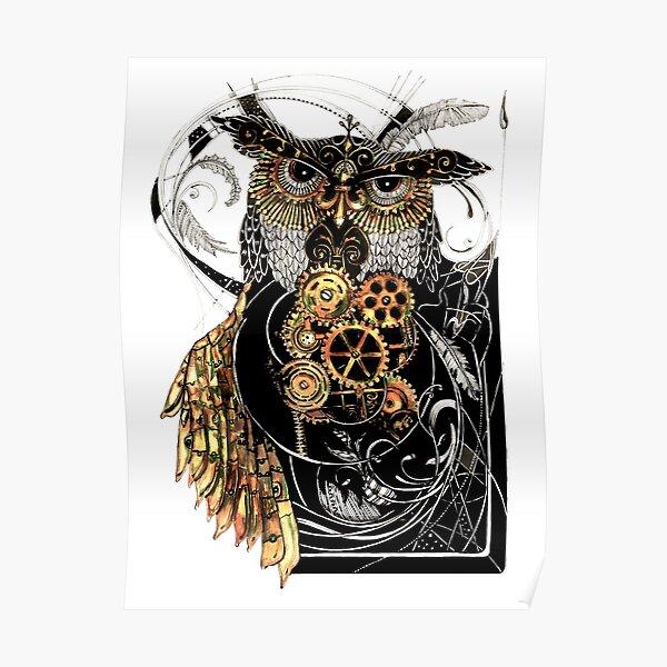 Steampunk wisdom Poster