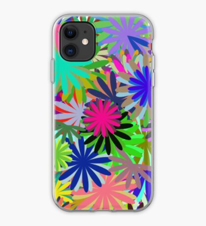 Meadow of Colorful Daisies iPhone Case