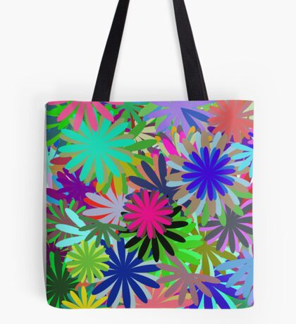 Meadow of Colorful Daisies Tote Bag