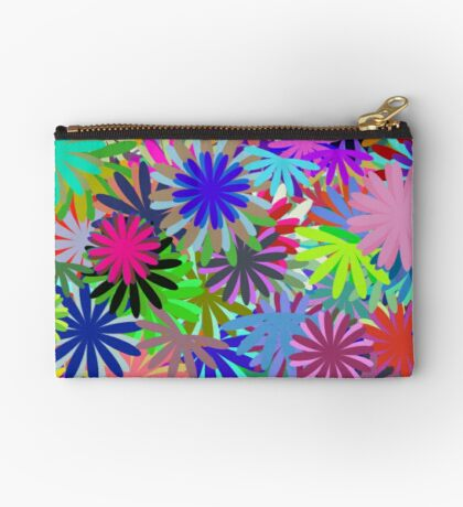 Meadow of Colorful Daisies Zipper Pouch
