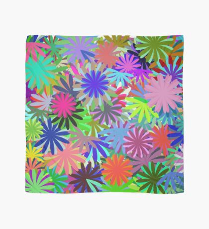 Meadow of Colorful Daisies Scarf