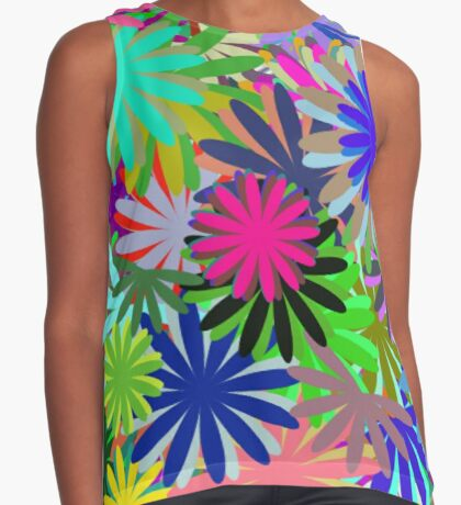 Meadow of Colorful Daisies Sleeveless Top