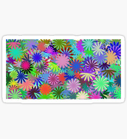 Meadow of Colorful Daisies Sticker