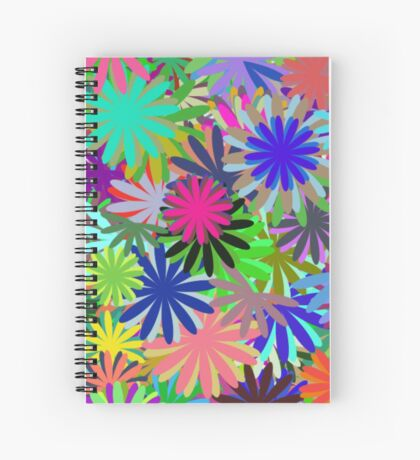 Meadow of Colorful Daisies Spiral Notebook