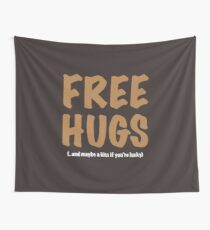 Free Hugs And Kisses Wall Tapestry
