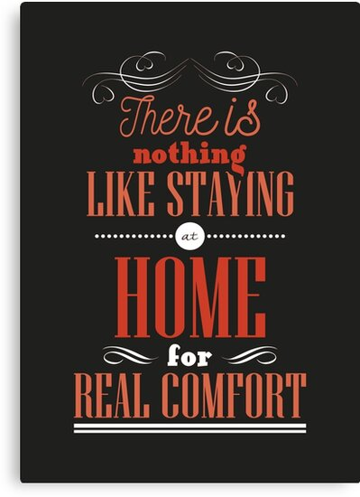 There is nothing like staying at home for real comfort. by nektarinchen