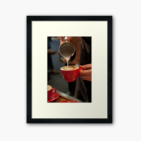 Pouring Hearts Framed Art Print