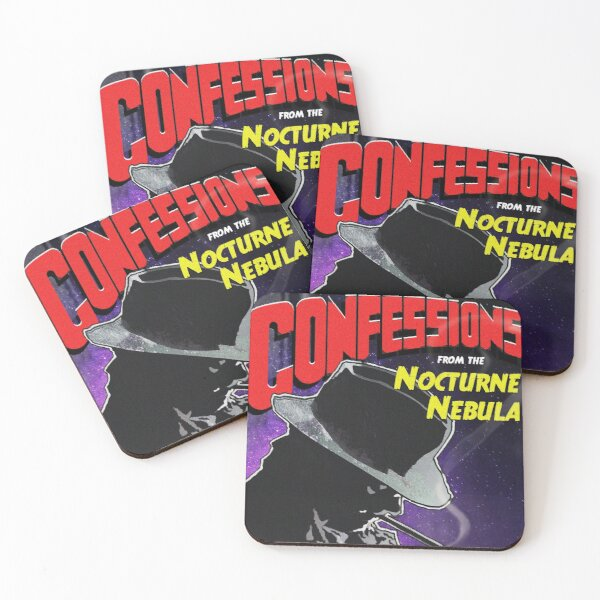 Confessions from the Nocturne Nebula Tile Image Coasters (Set of 4)