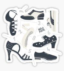 Puzzle de zapatos de baile Pegatina