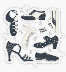 Puzzle de zapatos de baile Pegatina transparente