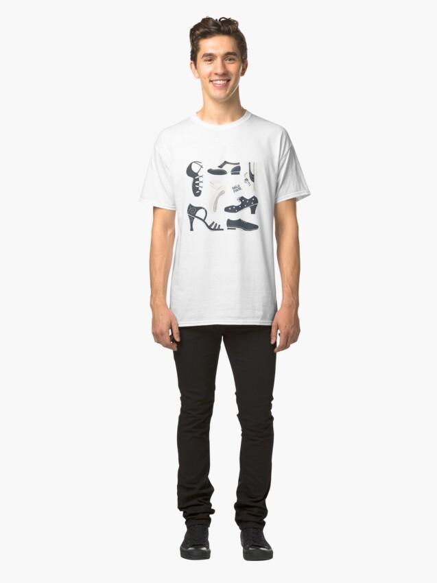 Vista alternativa de Camiseta clásica Puzzle de zapatos de baile