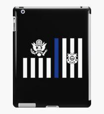 Coast Guard Thin Blue Line Ensign iPad Case/Skin
