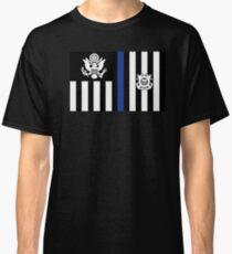 Coast Guard Thin Blue Line Ensign Classic T-Shirt