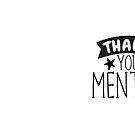 «Thank you mentor» de jazzydevil
