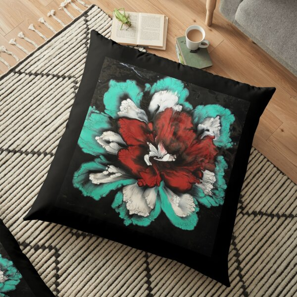 Red Orchid Floor Pillow