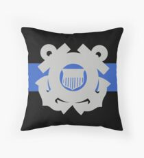 Coast Guard Thin Blue Line Throw Pillow