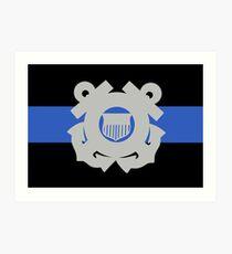 Coast Guard Thin Blue Line Art Print