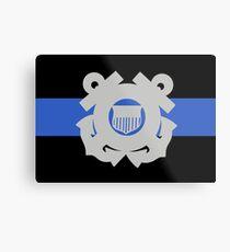 Coast Guard Thin Blue Line Metal Print