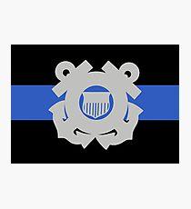 Coast Guard Thin Blue Line Photographic Print