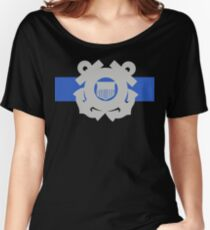 Coast Guard Thin Blue Line Relaxed Fit T-Shirt