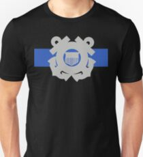 Coast Guard Thin Blue Line Slim Fit T-Shirt