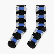 Coast Guard Thin Blue Line Sock