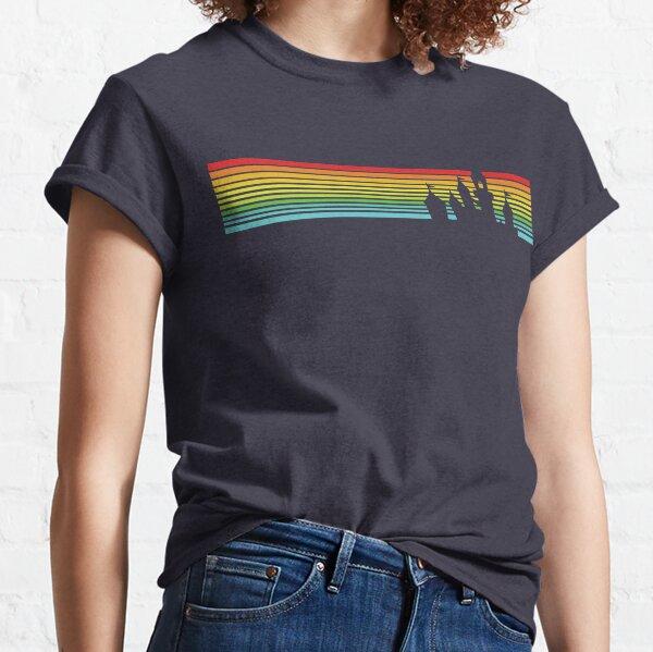 Retro Castle Stripes Classic T-Shirt