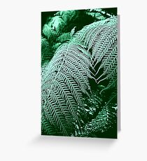Green Network Greeting Card